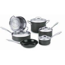 Green Gourmet Hard-Anodized 10 Piece Cookware Set