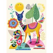 Llama Happiness Wall Mural