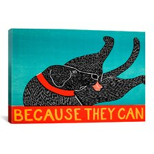 Because They Can by Stephen Huneck  Graphic Art on Canvas in Black