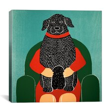 Lap Dog by Stephen Huneck Painting Print on Wrapped Canvas