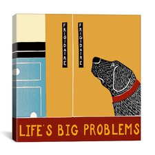 Life's Big Problems Banner by Stephen Huneck Painting Print on Wrapped Canvas