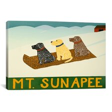 Mt. Sunapee Sled Dogs by Stephen Huneck Painting Print on Wrapped Canvas
