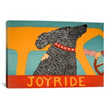 Joyride Black by Stephen Huneck Painting Print on Wrapped Canvas