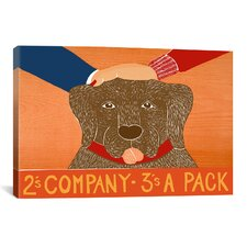 Stephen Huneck 2S Company Choc Painting Print on Wrapped Canvas