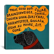 Dogs Can Only Learn a Few Words Black by Stephen Huneck Graphic Art on Wrapped Canvas