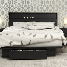 Full/ Queen Storage Platform Bed  South Shore