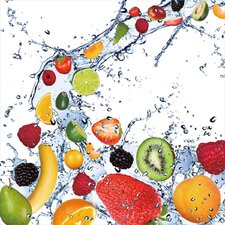 'Fruit Splash II' Framed Graphic Art
