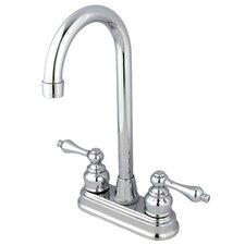 Victorian Double Handle Centerset High-Arch Bar Faucet