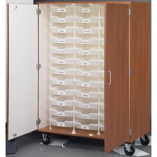 36 Compartment Classroom Cabinet with Bins