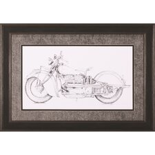 Motorcycle Sketch II by Megan Meagher Framed Painting Print