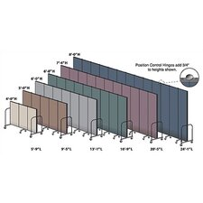 Commercial Edition Seven Panel Portable Room Divider