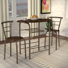 Alejandra 3 Piece Dining Set