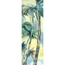 Dancing Palms Panel I by Sandy Doonan Painting Print on Wrapped Canvas