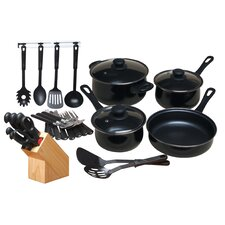 32 Piece Non-Stick Cookware Combo Set