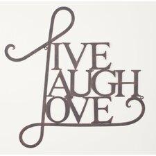 'Live, Laugh, Love' Wall Decor