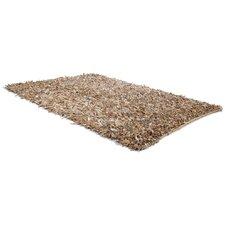 Handgearbeiteter Teppich Mut in Beige