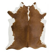 Handgefertigtes Kuhfell in Braun