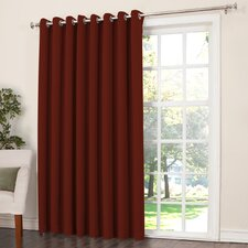 Groton Solid Semi-Sheer Grommet Single Curtain Panel