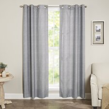 Winslow Solid Semi-Sheer Thermal Grommet Single Curtain Panel