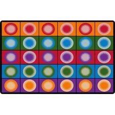 Dot Spots Red/Purple Area Rug