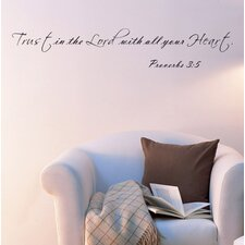 Trust in The Lord with All Your Heart Proverbs 3:5 Wall Decal