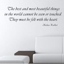 The Best and Most Beautiful Things Wall Decal