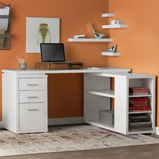 Senga Down 3 Drawer L-Shape Computer Desk