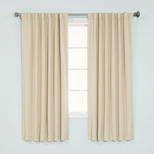 Basic Solid Blackout Thermal Rod Pocket Curtain Panels (Set of 2)