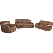 Hattiesburg 3 Piece Rocking Reclining Living Room Set