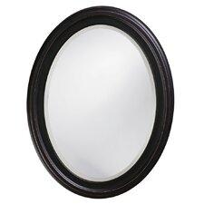 Oval Wood Wall Mirror
