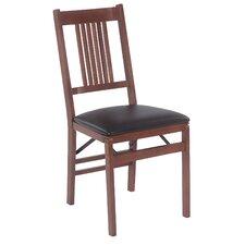 Berkshire Wood Folding Chair with Vinyl Seat (Set of 2)