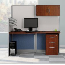 Office in an Hour Straight Workstation with Storage and Accessory Kit