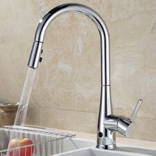 Touchless Single Handle Deck Mounted Kitchen Faucet with Spray Head