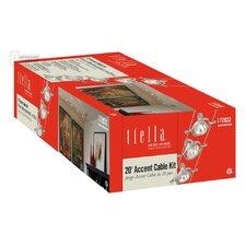 5-Light Cable Head Pivot Track Kit