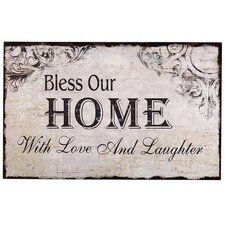 """""""Bless Our Home with Love and Laughter"""" Wall Decor"""