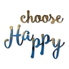 Choose Happy Wall Décor