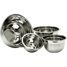 Wayfair Basics Stainless Steel 4 Piece Mixing Bowl Set