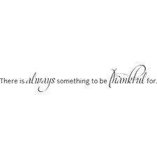 Always Be Thankful Wall Decal
