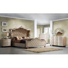 Diamond Panel Customizable Bedroom Set