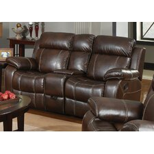 Chestnut Double Gliding Reclining Sofa