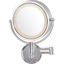 Hard Wired Dual Sided Wall Mount Halo Lighted Mirror