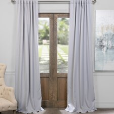 Solid Blackout Thermal Rod pocket Curtain Panels (Set of 2)
