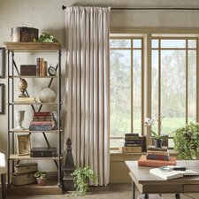 Rhinehart Solid Blackout Thermal Rod Pocket Single Curtain Panel