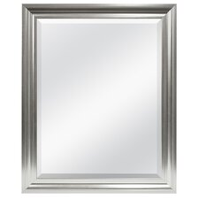 Rectangle Plastic Beveled Wall Mirror