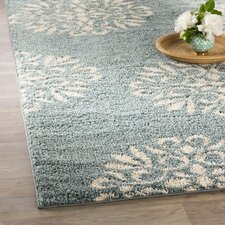 Cowden Exploded Medallions Woven Bay Blue/Cream Area Rug