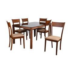 norloti  piece dining set norlotipiecediningset norloti  piece dining set: seven piece dining set