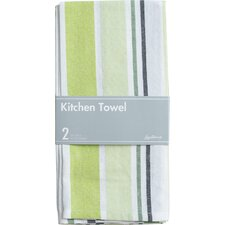 Barcode-Striped Kitchen Towel (Set of 2)