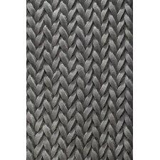 Handgewebter Teppich Urbane in Grau