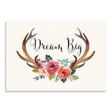 Dream Big Antlers Graphic Art