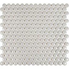 "Sail 0.75"" x 0.75"" Ceramic/Porcelain Mosaic Tile in Porpoise"